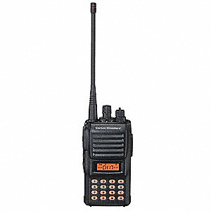 UHF Backlit LCD Portable Two Way Radio, Number of Channels 32