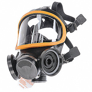 Ultra-Twin™ Full Face Respirator, Respirator Connection Type: Threaded, 5 pt. Full Face Suspension T