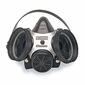 Half Mask Respirator,Threaded,M