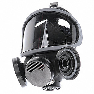 Ultra-Twin(TM) Threaded Connection Full Face Respirator, 5 Point Suspension, S