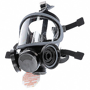 Threaded Connection Full Face Respirator, 5 Point Suspension, S