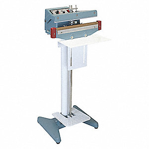 "Foot Operated Heat Sealer; Seal Length: 18"", Seal Width: 5/64"", Overall Height: 37"""