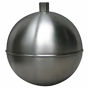 "Round Float Ball, 96.96 oz., 10"" dia., Stainless Steel"
