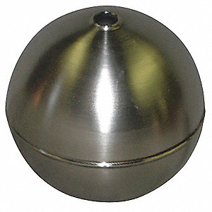 "Round Tubed Float Ball, 23.10 oz., 6"" dia., Stainless Steel"