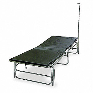 Portable Medical Field Cot with IV Pole