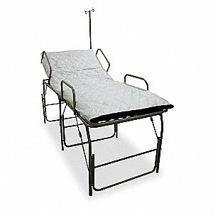 Medical Field Cot with IV Pole,Blue