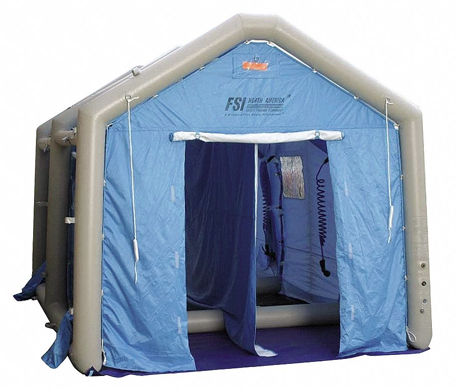 Inflatable Decontamination Shower,  180 in Length,  120 in Width,  108 in Height