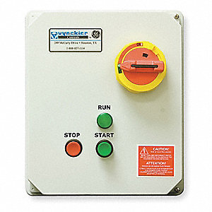120VAC Push Button IEC Combination Starter, 4X Enclosure NEMA Rating, Amps AC: 9 to 13