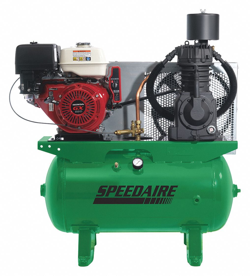 SPEEDAIRE Piston, 13.0 Stationary Air Compressor, 30 gal. - 4LW38|4LW38 -  Grainger