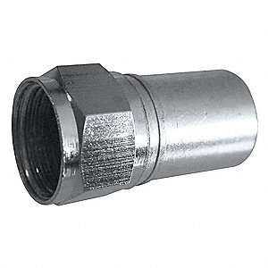 Coaxial Connector,F-Type,RG6 Plenum,PK50