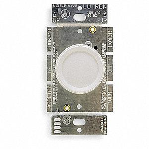 Lutron Rotary Lighting Dimmer Halogen Incandescent Lighting Technology 1 Pole White 4lx92 D 600p Wh Grainger