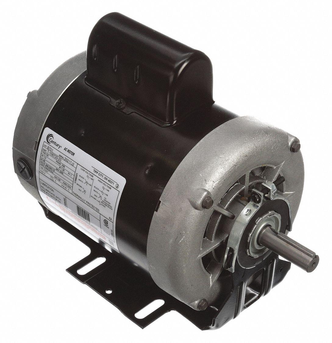1 HP Belt Drive Motor, Capacitor-Start, 3450 Nameplate RPM, 115/208-230  Voltage, Frame 56