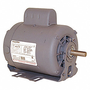 1 HP Belt Drive Motor, Capacitor-Start, 1725 Nameplate RPM, 115/208-230 Voltage, Frame 56