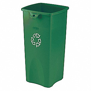 Recycling Container,Green,23 gal.
