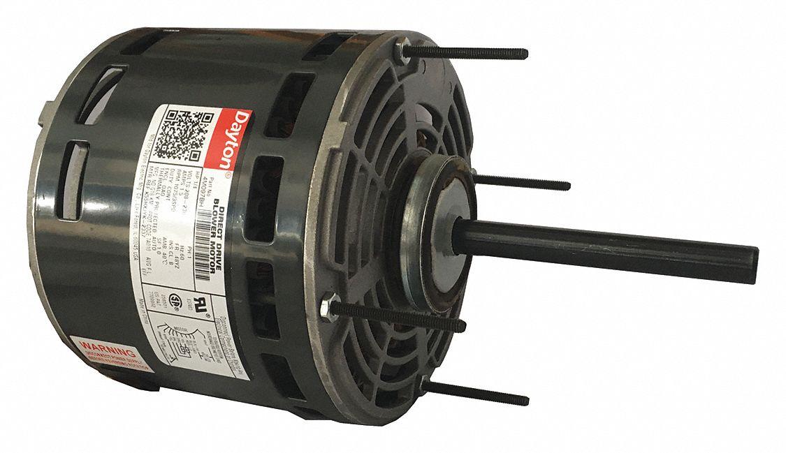 dayton 1 4 hp direct drive blower motor permanent split capacitor rh grainger com AC Fan Motor Wiring Motor Wiring Drawing