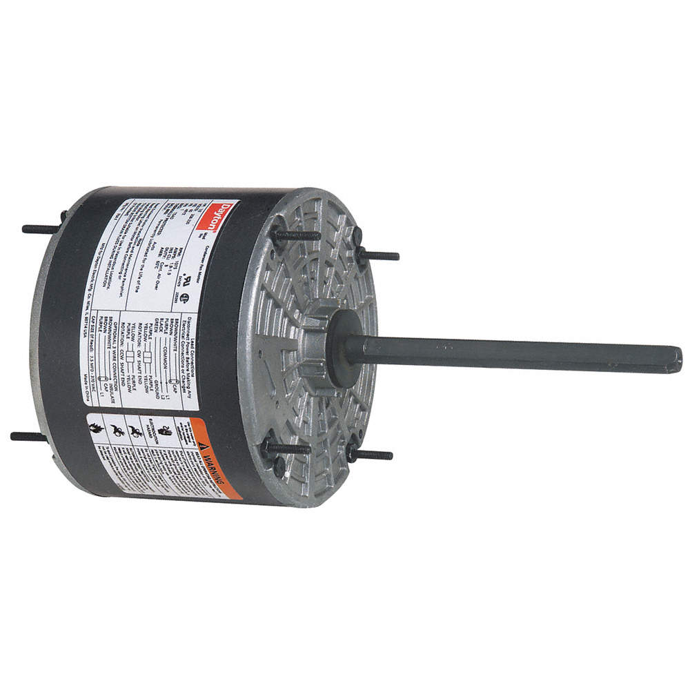 DAYTON 1/4 HP Condenser Fan Motor,Permanent Split Capacitor,1075 ...