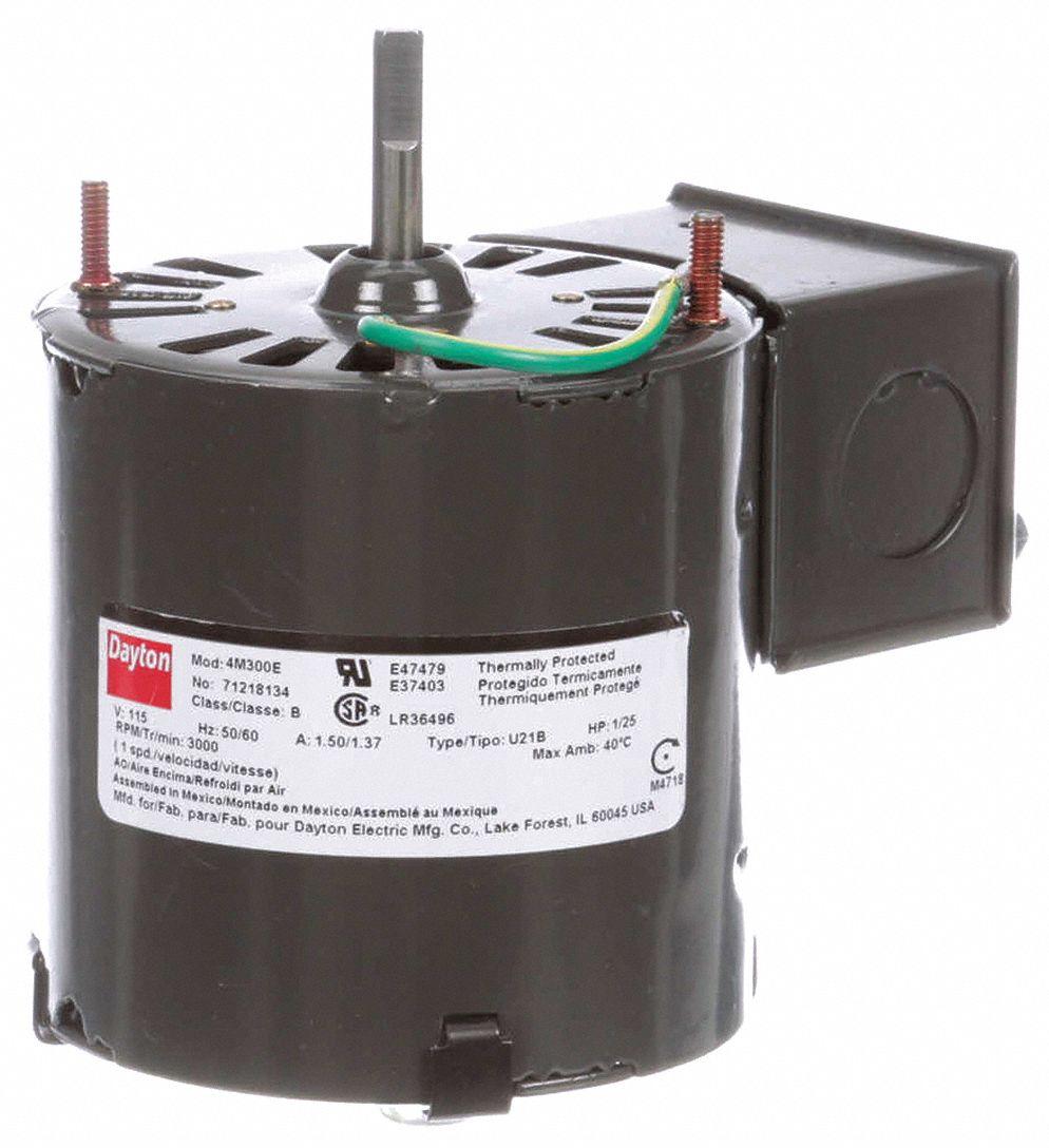 FASCO HVAC 3.3 In Motor,1//25 HP,115V,CW//LE D365