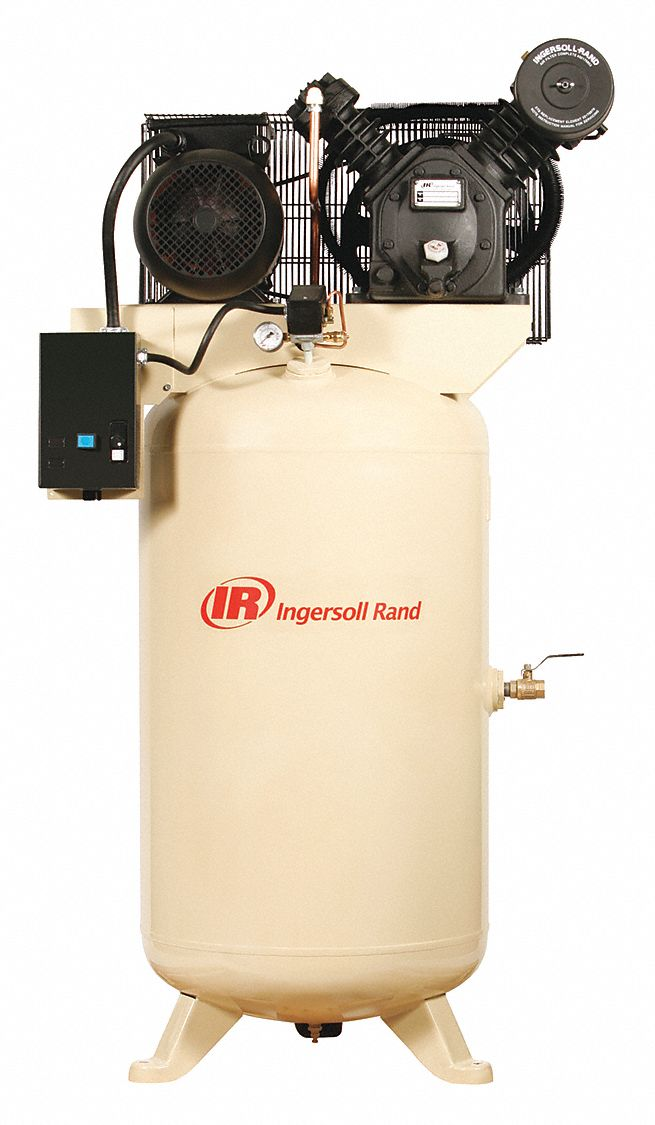 1 Phase - Electrical Vertical Tank Mounted 7.5 hpHP - Air Compressor Stationary Air Compressor, 80 g
