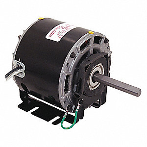 1/6 HP Direct Drive Blower Motor, Shaded Pole, 1550 Nameplate RPM, 208-230 Voltage, Frame 42Y