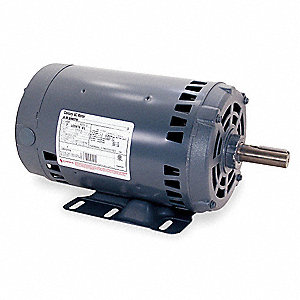 2 HP Belt Drive Motor, 3-Phase, 1725 Nameplate RPM, 208-230/460 Voltage, Frame 56H
