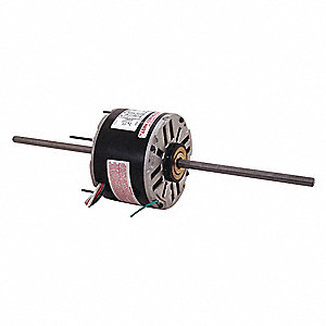 1/3 HP Room Air Conditioner Motor,Permanent Split Capacitor,1075 Nameplate RPM,115 Voltage,Frame 48Y