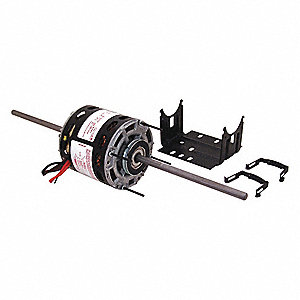 1/4 HP Room Air Conditioner Motor,Permanent Split Capacitor,1075 Nameplate RPM,115 Voltage,Frame 42Y