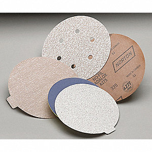 "5"" Coated Hook-and-Loop Sanding Disc, Ultra Fine Grade, Aluminum Oxide"