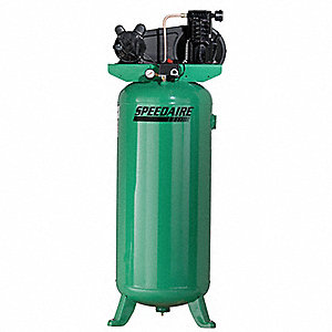 1 Phase Vertical Tank Mounted 3HP Electric Air Compressor, 60 gal., 135 psi