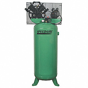 1 Phase Vertical Tank Mounted 5HP Electric Air Compressor, 60 gal., 140 psi