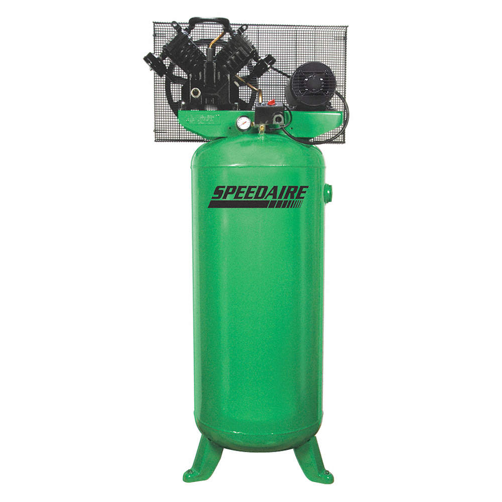 3 Phase - Electrical Vertical Tank Mounted 5.00HP - Air Compressor on