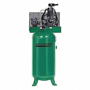 1 Phase Vertical Tank Mounted 5HP Electric Air Compressor, 60 gal., 175 psi