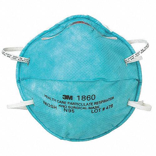 Filtro El De La Salud Desechable Verde N95 Para 20pk Cuidado Respirador Universal