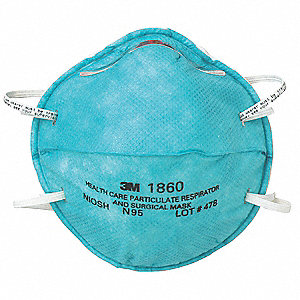 Respirator Universal Healthcare Pk 20 Molded Disposable N95