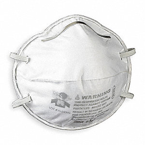 R95 Disposable Particulate Respirator, White, Universal, 20PK