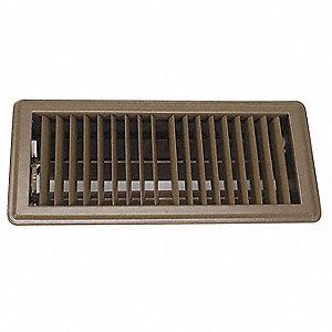 "Floor Register,4x10"",Brown"