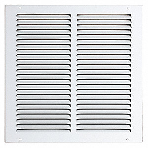 Return Air Grille,8x8 In,White