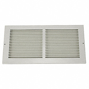 "Return Air Grille,8x30"",White"