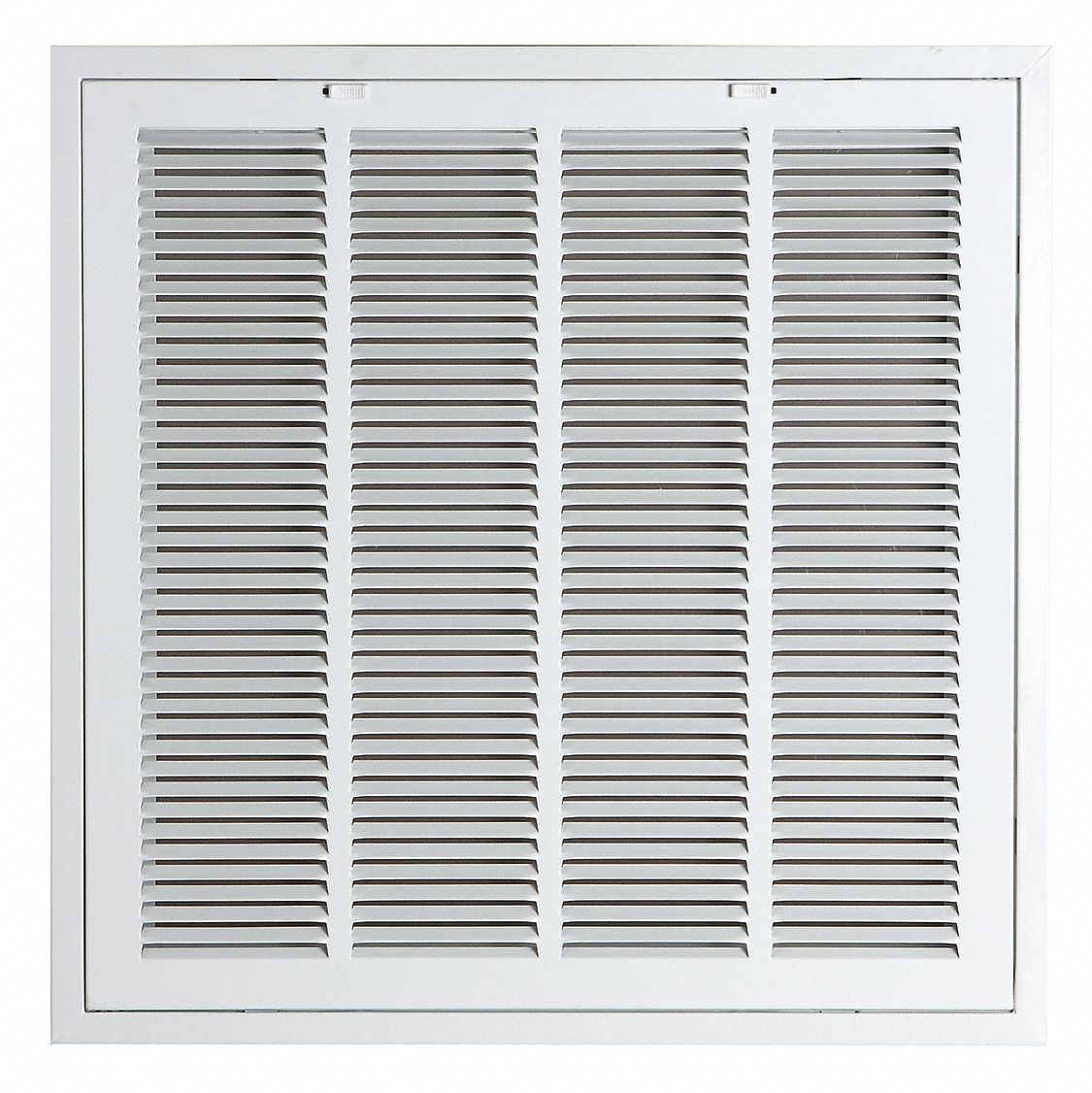 Filtered Return Air Grille, Removable Face, White, 24 Max  Duct Height (In )