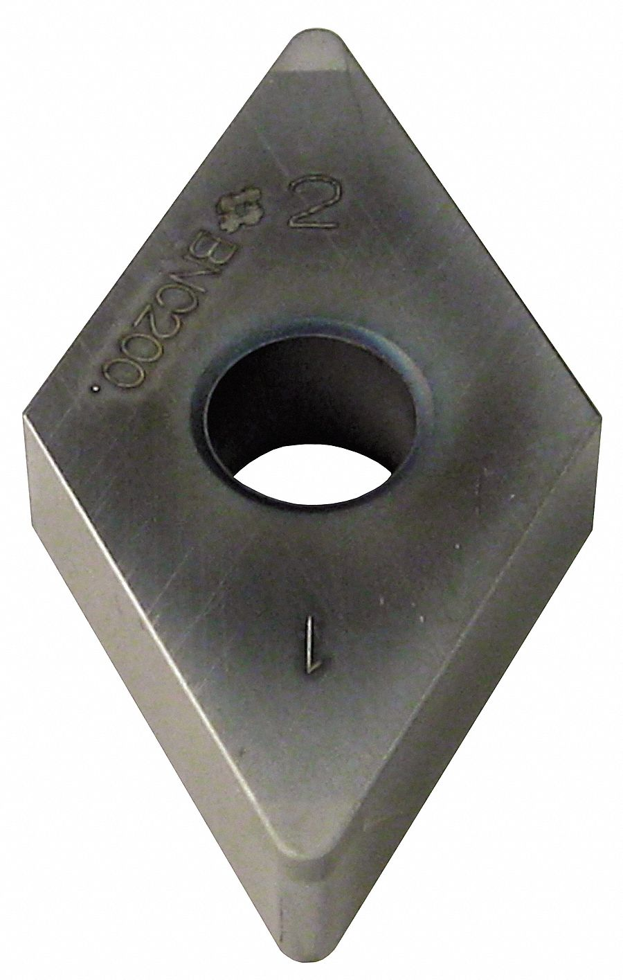 Diamond Turning Insert,  Inscribed Circle 1/2 in,  TiN
