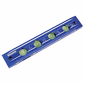 Magnetic Torpedo Level,9 In,4 Vials