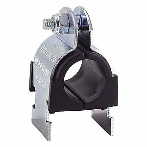 Strut Mounted Cushioned Clamp, Stainless Steel Type 304