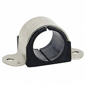 2HOLECUSHIONEDCLAMPPIPE S1/2IN,L221