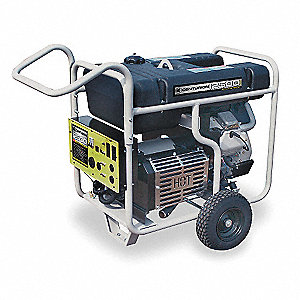 Portable Generator, 120/240VAC Voltage, 12,500 Rated Watts, 18,750 Surge Watts, 104/52 Amps @ 120/24