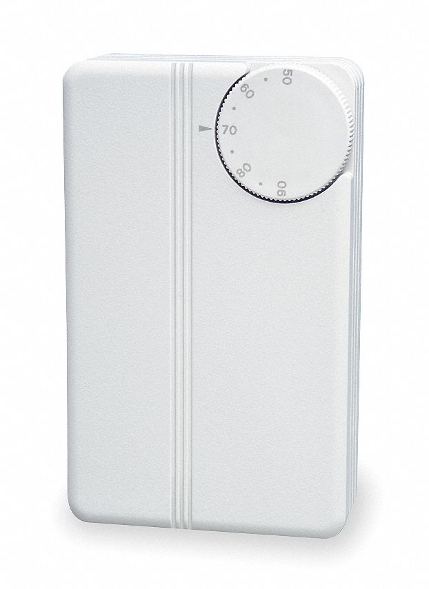 VAV Thermostat,  Proportional Heat or Cool,  Control Range (F) 50 to 90,  Number of Relay Outputs 1