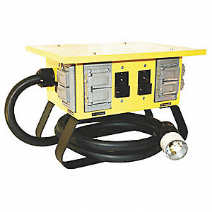 Power Distribution Box, 120/240VAC Voltage Rating, 50 Amps, Number of Poles: 3