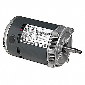 1 HP Jet Pump Motor, 3-Phase, 3450 Nameplate RPM, 208-230/460 Voltage, 56J Frame