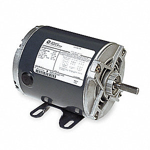 1/4 HP General Purpose Motor,3-Phase,1725 Nameplate RPM,Voltage 208-230/460,Frame 48