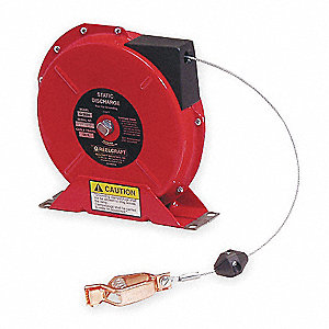 50 ft. Static Discharge Grounding Cable Reel, Red