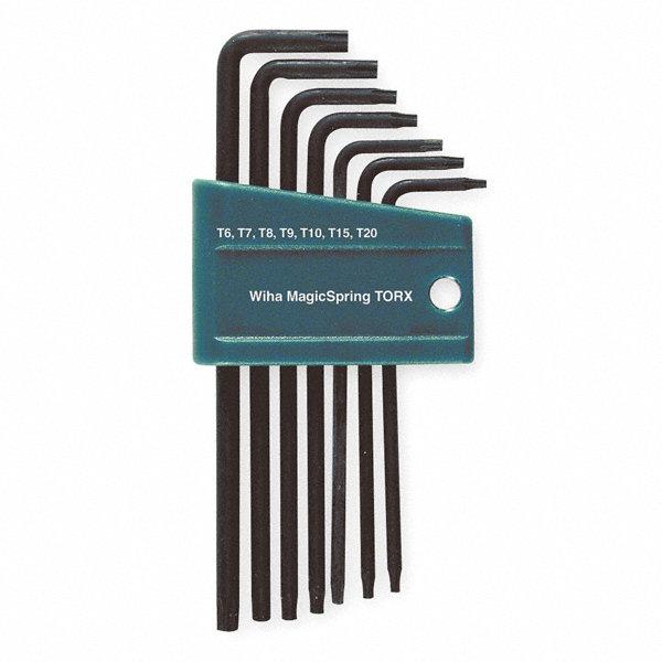 wiha tools short plain torx black oxide torx key set number of pieces 7. Black Bedroom Furniture Sets. Home Design Ideas