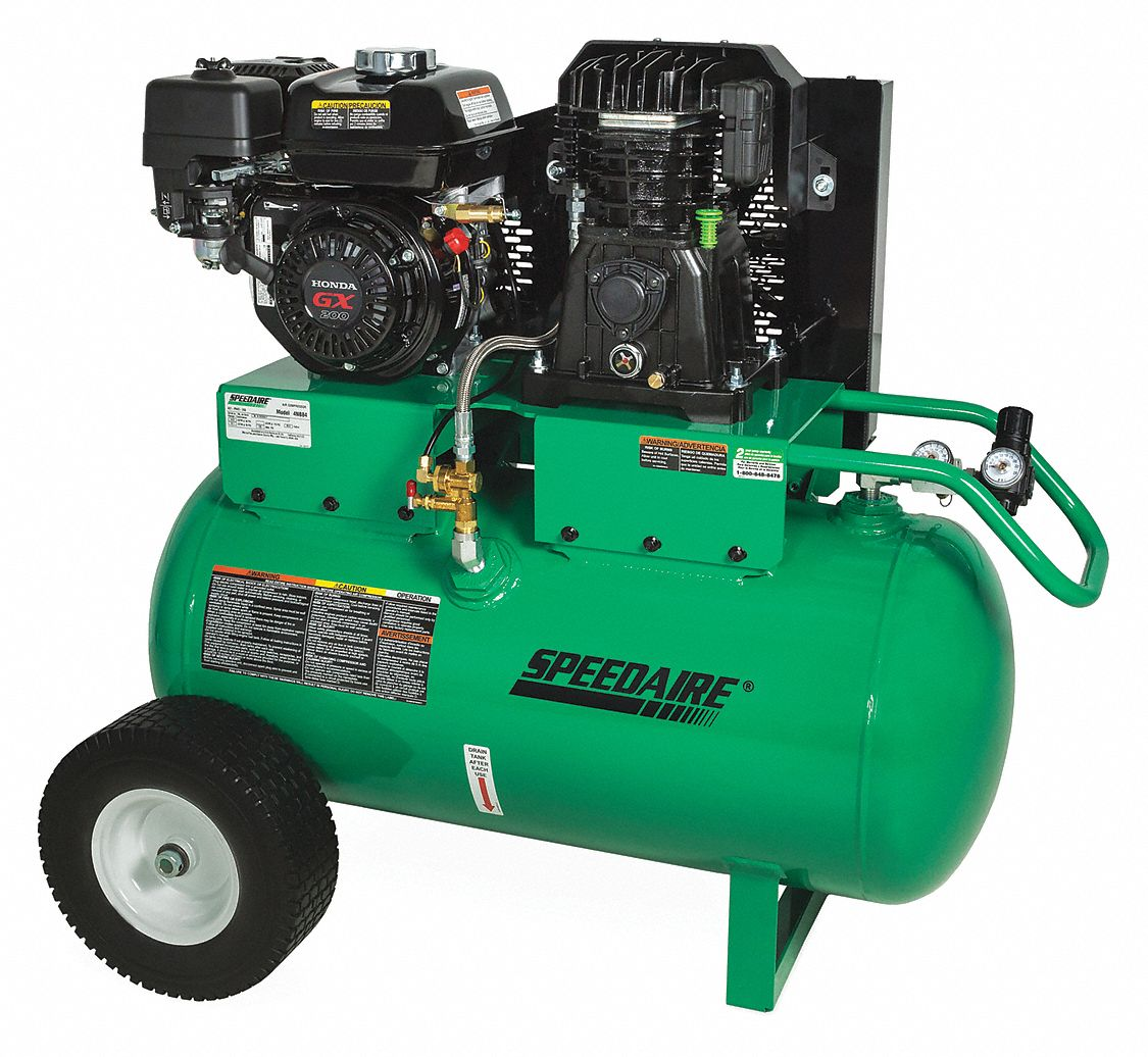 SPEEDAIRE 30 gal. 6.5 HP Barrel Portable Gas Air Compressor - 4NB84|4NB84 -  Grainger